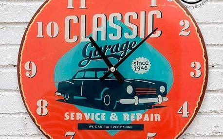Nástěnné Hodiny Classic Garage