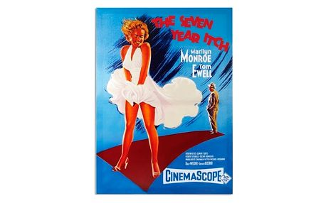 Marilyn Monroe Slaměný vdovec obraz na lněném plátně 50 x 70