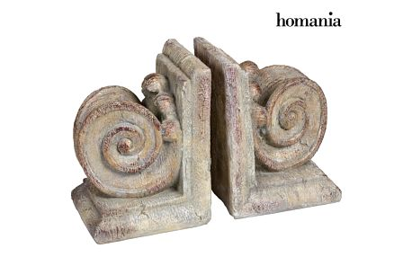 Set of 2 column bookends by Homania