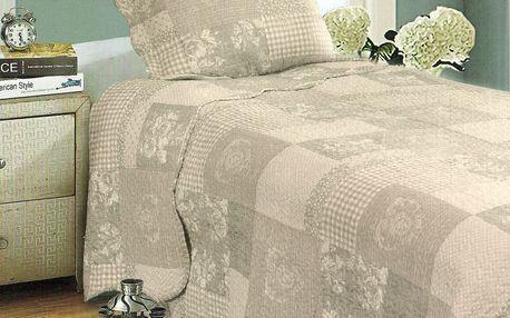 Přehoz na postel Patchwork, 140 x 200 cm, 1x 50 x 70 cm