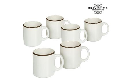 Set of jugs China crockery Bílý Kaštanová 6 pcs - Kitchens Deco Kolekce by Bravissima Kitchen