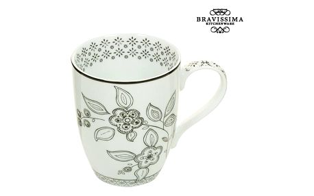 Cup Porcelán Flowers - Kitchens Deco Kolekce by Bravissima Kitchen