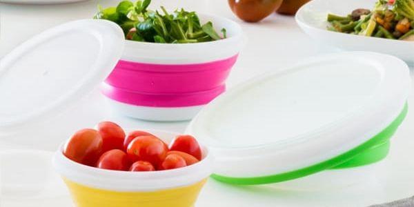 Skládací Krabičky na Jídlo Bravissima Kitchen 3 kusy