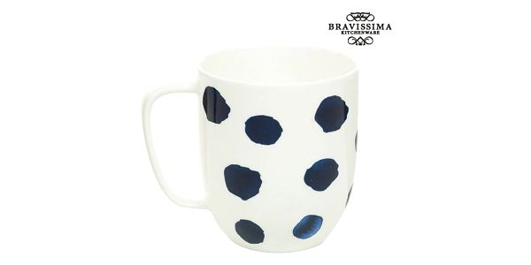 Cup Porcelán Puntíky Blue - Kitchens Deco Kolekce by Bravissima Kitchen