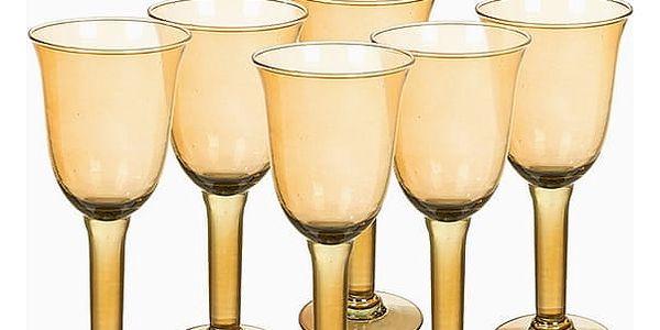 Sklenice z recyklovaného skla 6 pcs 500 ml Žlutý - Crystal Colours Kitchen Kolekce by Bravissima Kitchen