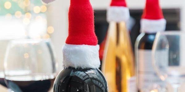 Čepička Santa Clause na Láhve 4 kusy