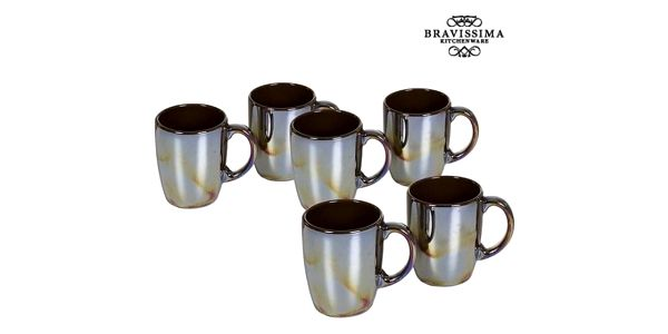 Set of jugs China crockery Kaštanová 6 pcs - Kitchens Deco Kolekce by Bravissima Kitchen