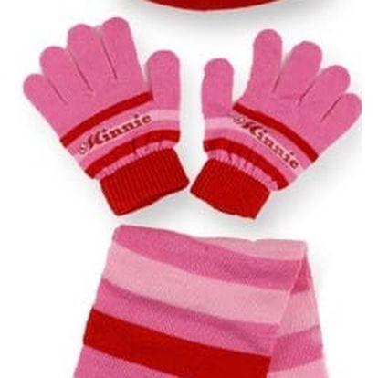 Setino Dětský zimní set MINNIE - červená