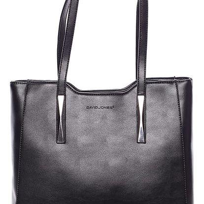 Elegantní černá dámská kabelka přes rameno - David Jones Cornelina černá