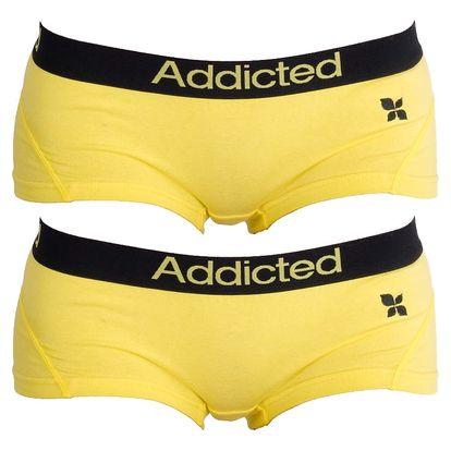 2PACK Dámské Kalhotky Addicted Žlutá S