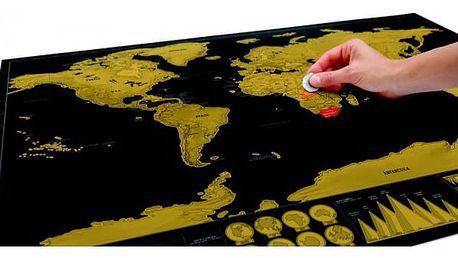 Stírací mapa světa Deluxe