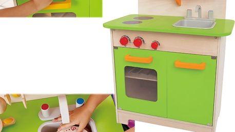 Kuchyňka Hape Toys, se zelenými dvířky