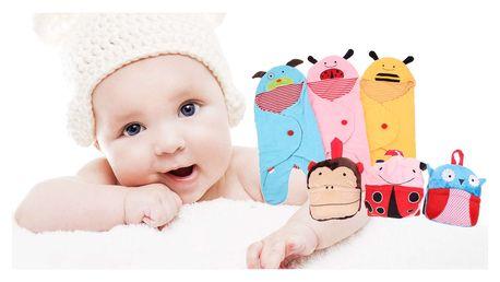 Dětská zvířátková zavinovačka nebo dětská deka a polštářek v jednom