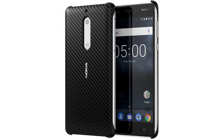Nokia Carbon Fibre Design Case CC-803 for Nokia 5, černá - CC-803 onyx black