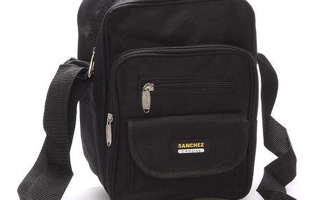 Pánská látková taška přes rameno černá - Sanchez Thomas černá
