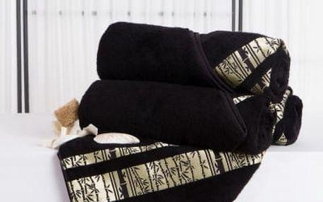 XPOSE ® Bambusová osuška MINA - černá 70x140 cm