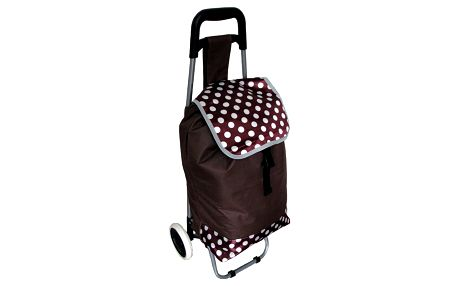 Nákupní taška na kolečkách Puntík, tmavě hnědá
