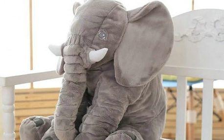 Velký plyšový slon pro děti - různé barvy