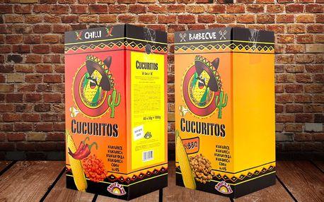 Velké balení křupavé pražené kukuřice Cucuritos