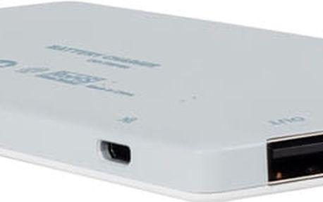 Canyon powerbanka 5000 mAh, bílá - CNS-TPBP5W + Zdarma Canyon alkaline battery AA, 4pcs/pack v ceně 49 Kč