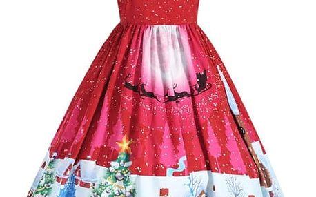 Dámské šaty s vánočním motivem