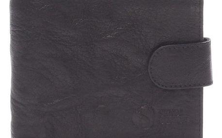 Praktická kožená černá peněženka - Sendi Design 47 černá