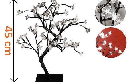 Nexos 28300 Dekorativní LED osvětlení - strom s květy - 45 cm, studená bílá