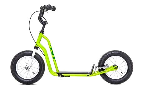 Koloběžka Yedoo Basic Mau zelená + Reflexní sada 2 SportTeam (pásek, přívěsek, samolepky) - zelené v hodnotě 58 Kč