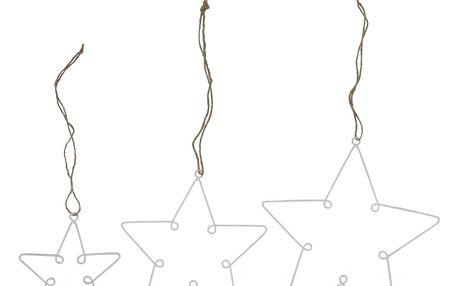 IB LAURSEN Dekorativní hvězda z drátku White Střední, bílá barva, kov
