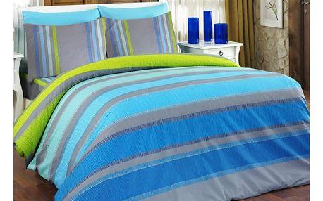 Bedtex povlečení ELLE tyrkys bavlna, 140 x 200 cm, 70 x 90 cm