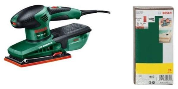 Vibrační bruska Bosch PSS 250 AE + 25 ks sada br. papírů