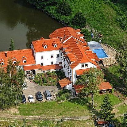 3denní wellness pobyt pro 2 s whirlpoolem v penzionu Borovanský mlýn u Třeboně