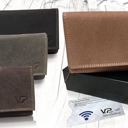 Dámská kožená peněženka v dárkové kazetě