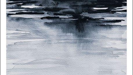 Magdalena Tyboni DESIGN Plakát Nature Blue 50x70 cm, modrá barva, papír