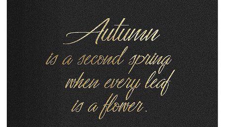 TAFELGUT Pohlednice Autumn 12x17,5 cm, černá barva, zlatá barva, papír