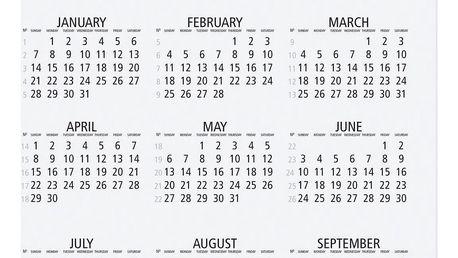 TAFELGUT Plakát 2018 30x42 cm, černá barva, bílá barva, papír