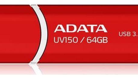 USB Flash ADATA UV150 64GB (AUV150-64G-RRD) červený USB 3.0