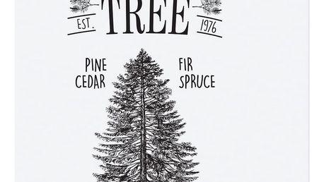 TAFELGUT Plakát Christmas Tree Farm 30x42 cm, černá barva, bílá barva, papír