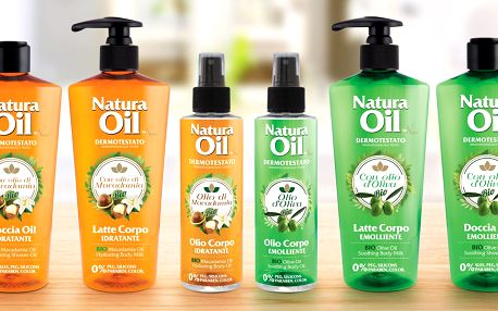 Italská tělová kosmetika Natura Oil s bio oleji