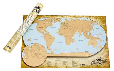 Česká verze stírací mapy světa