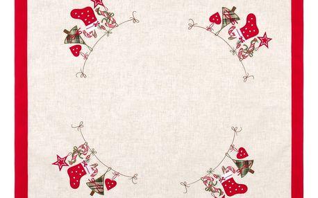 BO-MA Trading Vánoční ubrus Punčocha, 85 x 85 cm