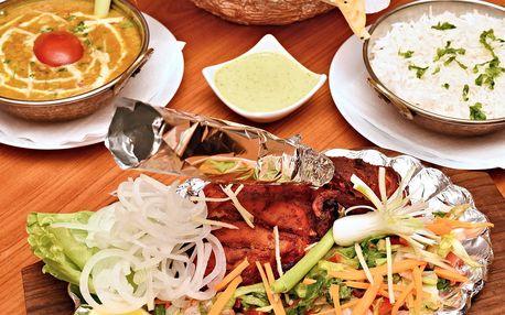 Indické menu u I. P. Pavlova: vege i s masem