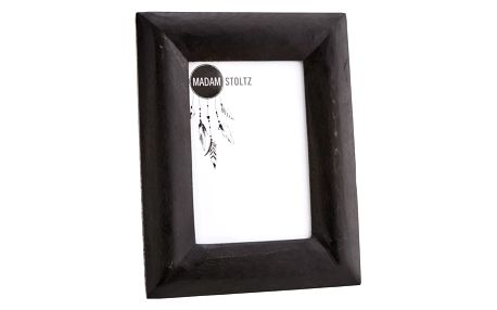 MADAM STOLTZ Dřevěný fotorámeček s opěrkou Black, černá barva, sklo, dřevo
