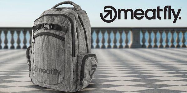 Šedý batoh Meatfly Texture s kapsou na notebook