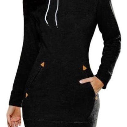 Ležérní mikinové šaty s kapsami a kapucí - 5 barev