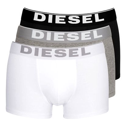 3PACK Boxerky Diesel Black / White / Grey Essential M