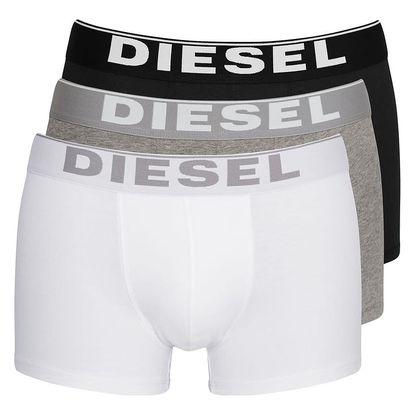 3PACK Boxerky Diesel Black / White / Grey Essential M