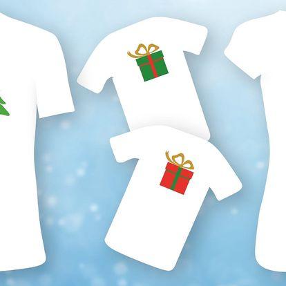 Parádní rodinná trička s barevným potiskem