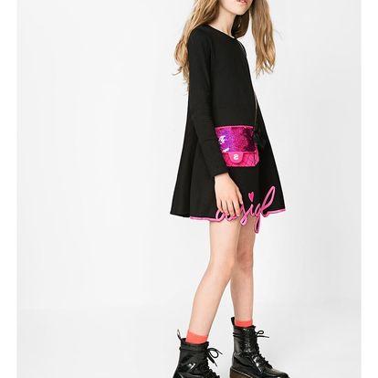 Desigual černé dívčí šaty Sydney