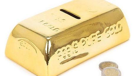 Keramická kasička Zlatá cihla